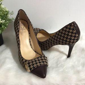 Vero Cuoic women's animal leather print heels 9B